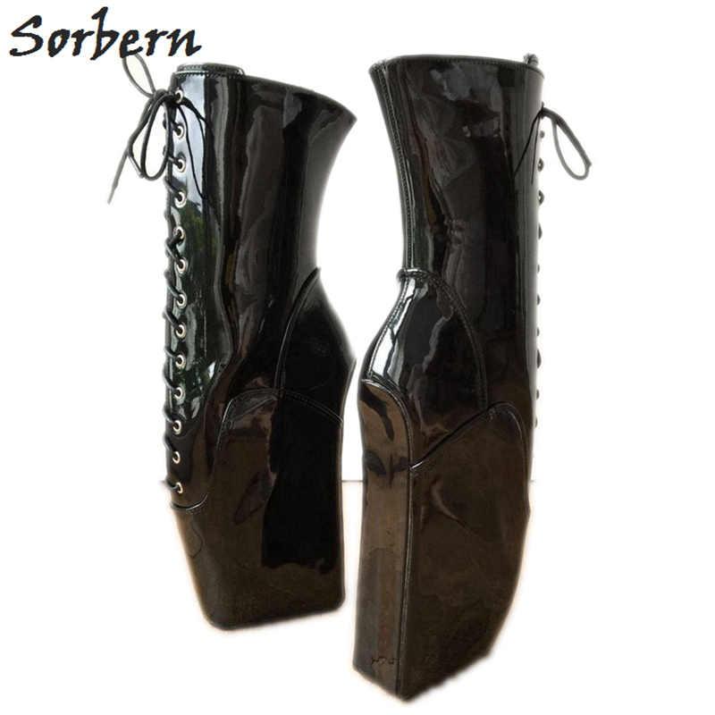 Sorbern Custom Black Anke Boots Ladies