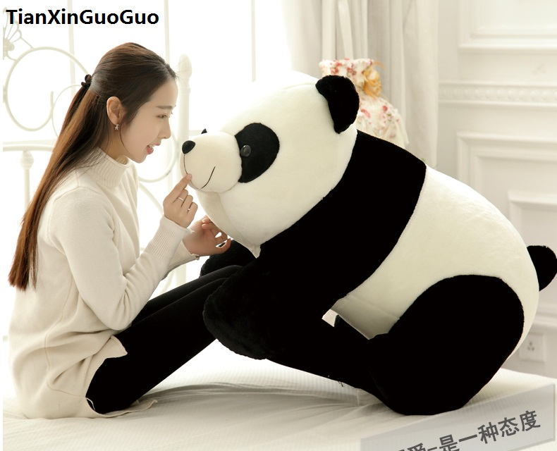 fillings plush toy huge 90cm lovely giant panda plush toy soft doll hugging pillow birthday gift s0610 cartoon glasses panda in yellow cloth large 70cm plush toy panda doll soft pillow christmas birthday gift x031