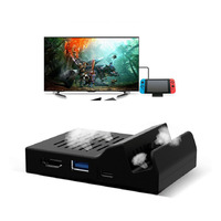 Portable Cooling Heat Dissipation Charger TV Dock Base Support 4K USB 3 0 HDMI Output Charging