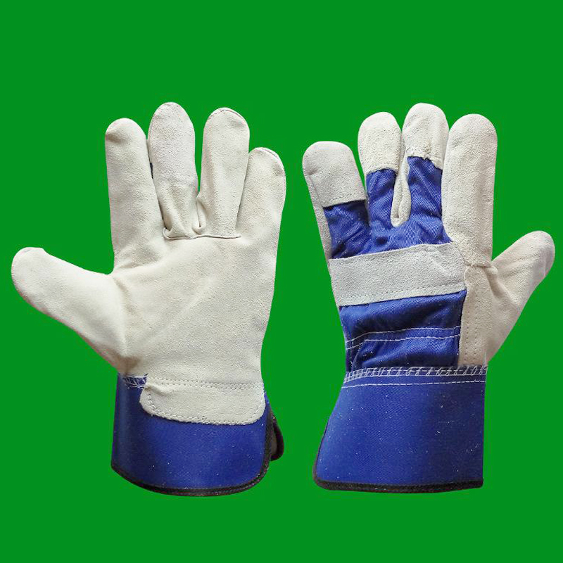 10Pairs/Lot Welding Gloves Cowhide Safety Cut-Resistant Glove 26.5cm Insulation Wear-resistant Protection Gloves Durable GST022