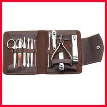 Case+11 in 1 pcs Nail Clipper Kit Nail Care Set Pedicure Scissor Tweezer Knife Ear pick Utility Manicure Set Tools