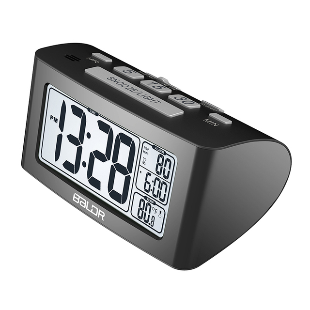 Ordinaire Baldr Electronic Digital Alarm Clock,Portable Smart Snooze Back Light With  Temperature, For Office