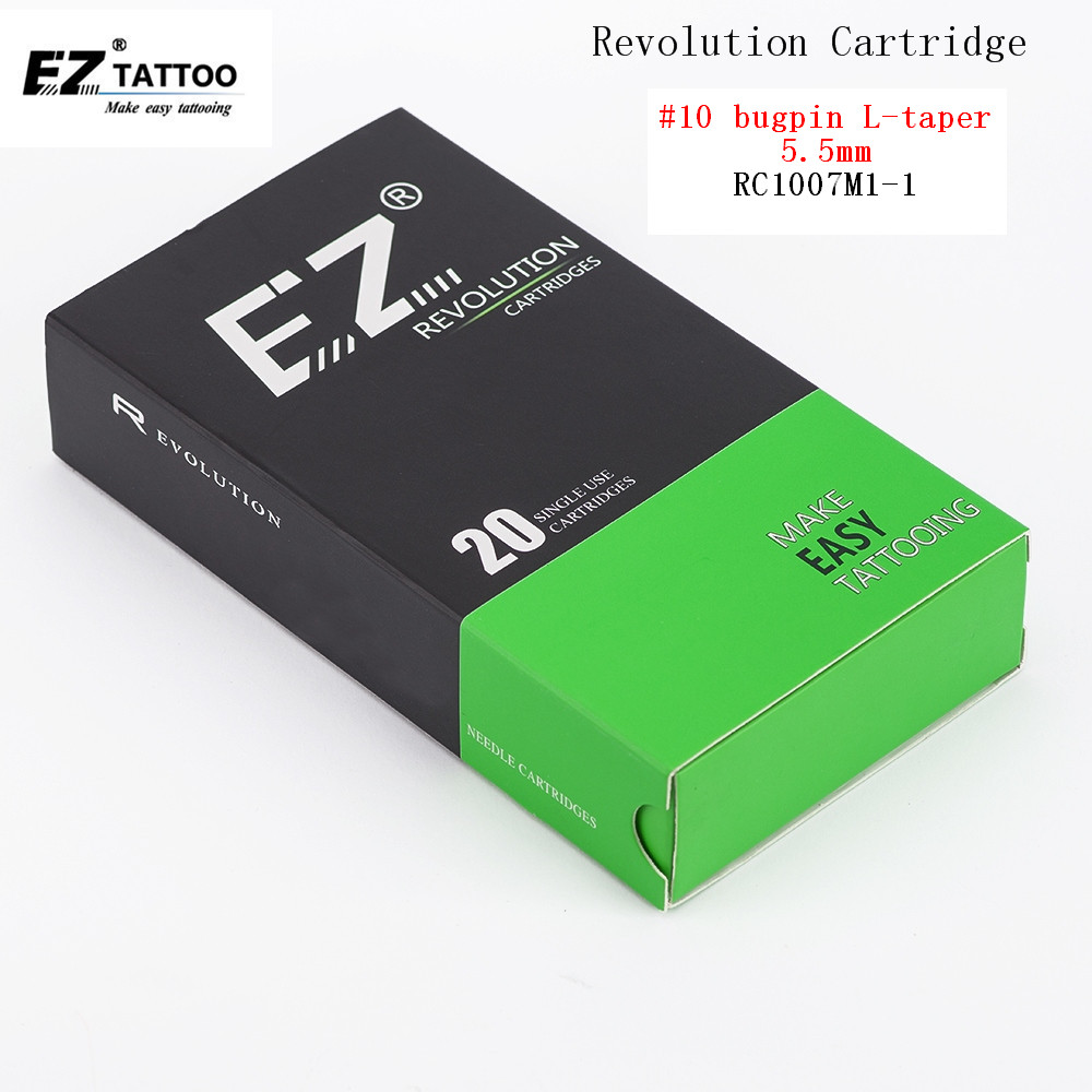 EZ Revolution Cartridge  Tattoo Needles #10 0.30mm Magnum (M1) For System Machines And Grips Tattoo Supply 20 Pcs /box