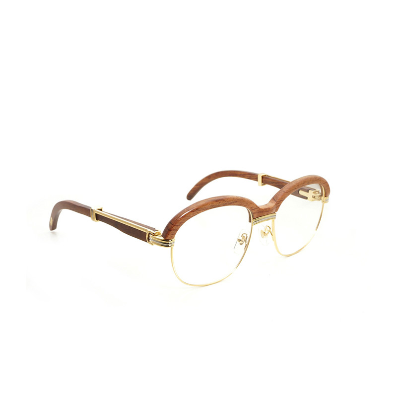 Vintage Wrap Style lunettes de soleil bois clair lunettes cadre pour femmes hommes beach en bois Gafas conduite ronde lunettes Oculos nuances