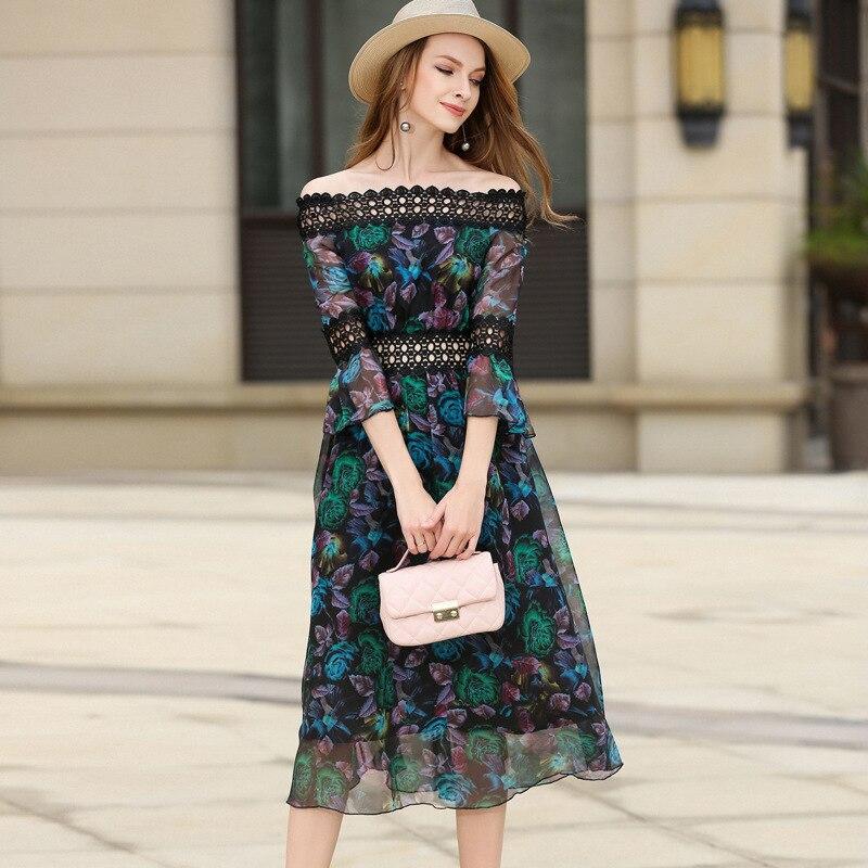 Aliexpress Com Buy Elegant Flare Sleeve Wedding Dress: Aliexpress.com : Buy Elegant Slash Collar Lace Flare