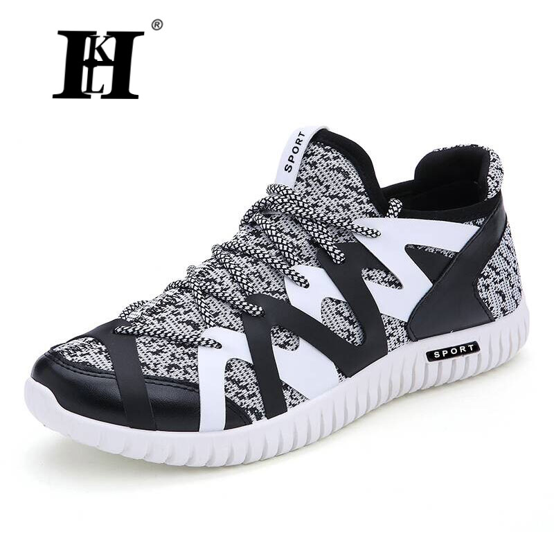 ФОТО HKL 2017 NEW Mens Comfortable Breathable Mesh Shoes Fashion Casual Men Shoes Lightweight Men Casual Shoes Best for runn business
