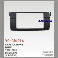 Liislee 2 DIN ABS Plastic Frame Radio Fascia For BMW 3( E46 ) 1998~2005 Auto Stereo Interface Dash CD Trim Installation Kits