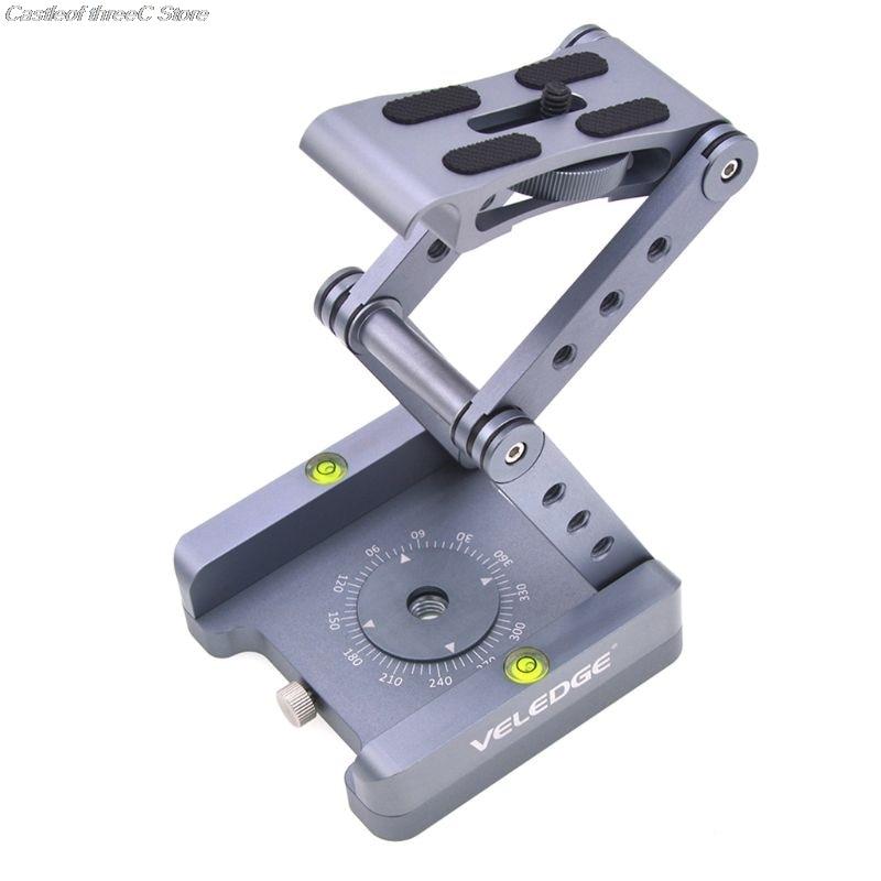 360 degrés rotatif en aluminium pliable Z Flex inclinaison à tête sphérique trépied support de caméra pour Nikon Canon Sony accessoires