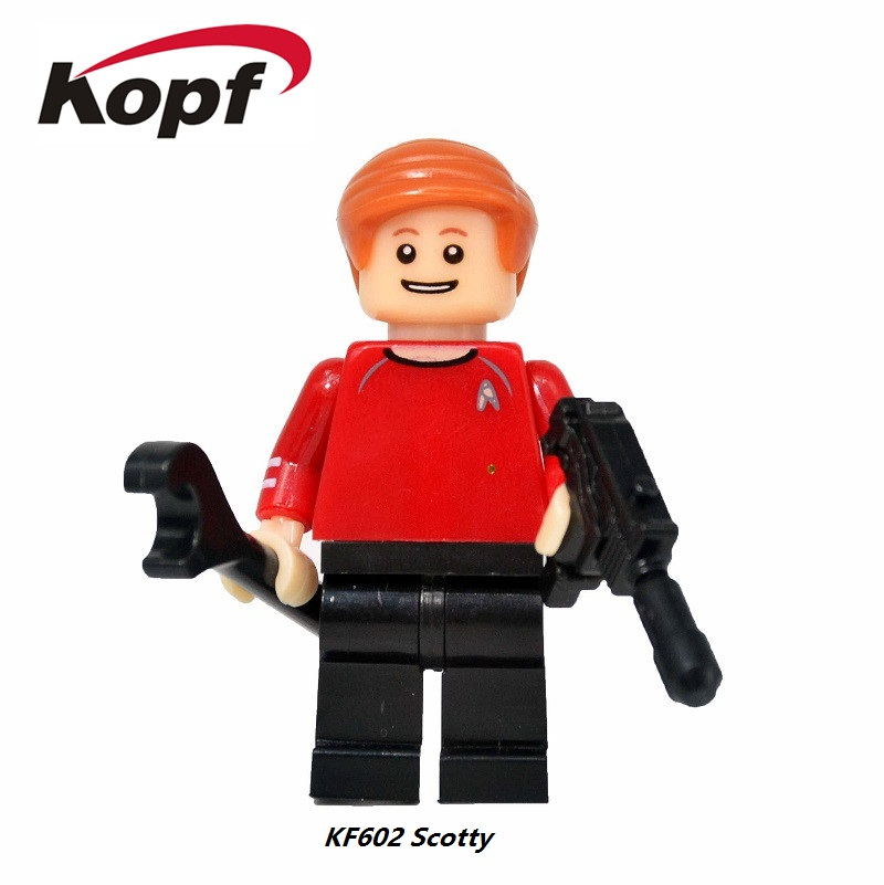 20Pcs KF602 Building Blocks Super Heroes <font><b>Star</b></font> <font><b>Trek</b></font> <font><b>Scotty</b></font> Edward Rayburn Model Assemble Bricks <font><b>Action</b></font> <font><b>Figures</b></font> Children Gift Toys