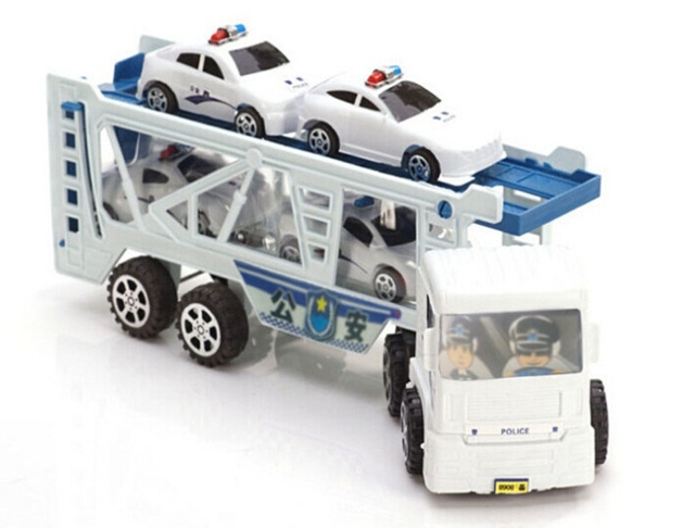 Inertial car large truck four police police trailer truck toys toys most popular children's toys