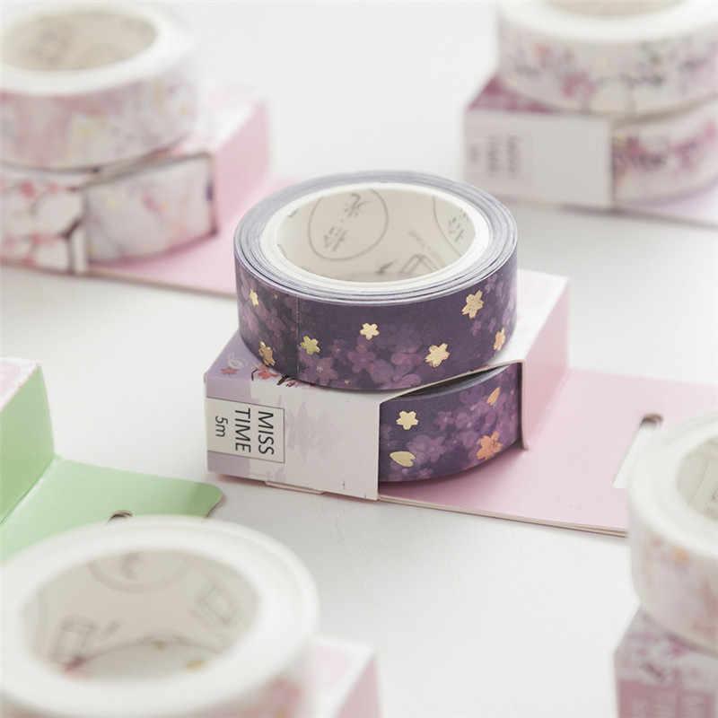 1 шт. японский стиль романтическая васи лента волновой кран Сакура маскирующая лента декоративные Стикеры для скрапбукинга школьная поддержка