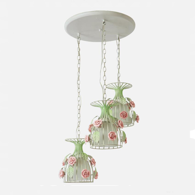 Nordic Green Decorative Multi Three Pendant Light Set FixtureLED - Set of three pendant lights