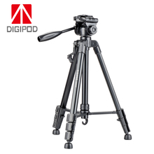 2018 new design high quality cheap price lightweight black color digital camera tripod stand  with 3 way pan head for traveller