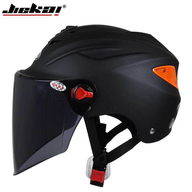 New JieKai summer motorcycle helmets electric bicycle scooter helmet sunscreen anti UV Motos helmet casco Capacete