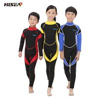 Neoprene wetsuit for kids diving suits children swimwears long sleeves girls boys surfing one piece snorkeling rashguard wetsuit