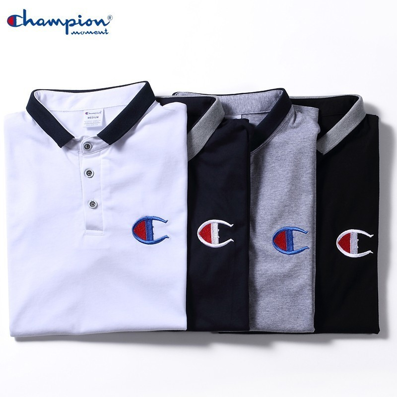 Champion Moment Men's Summer Casual   Polo   Shirt 100% Cotton Shirt Fashion Loose Men's Summer Best Selling Brand Men's   Polo   Shirt