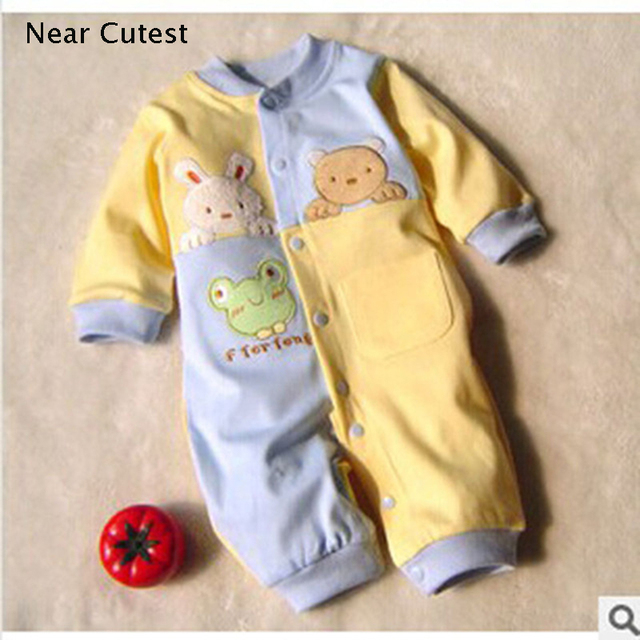 Near Cutest Baby Romper Autumn Winter New Animal One Piece Long Sleeve Thin Cotton Newborn Baby Clothing Infant Baby Clothes