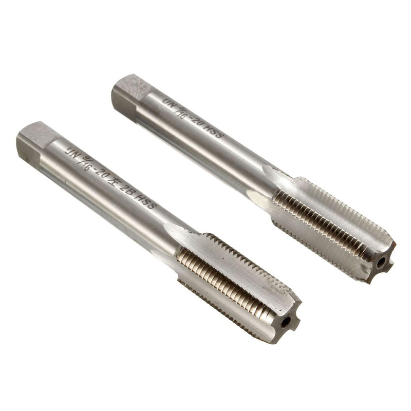 DWZ 2PCS/lots Left/Right 9/16 -20 TPI Unified USA Standard Threads HSS Taper Tap