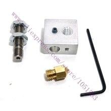 3D Printer Extruder Nozzle Print Head+ Nozzle Throat + Heater Block for 1.75mm/3mm Makerbot 3D Printer
