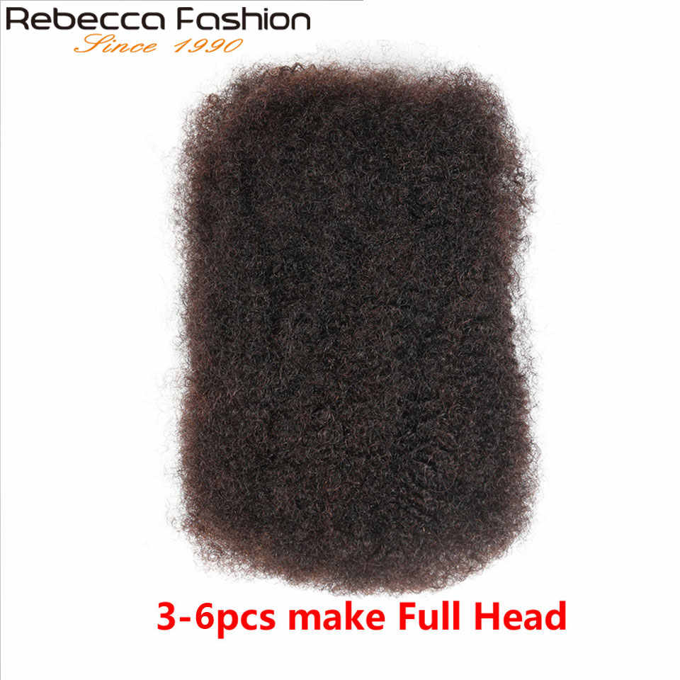 Rebecca Malaysian Afro kinky Curly Bulk Remy Human Hair For Braiding 1 Bundle 50g/pc Natural Color Braids Hair Free Shipping