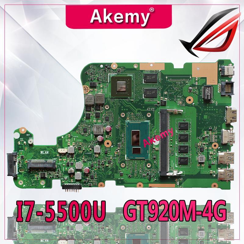 Akemy X555LD Laptop motherboard for ASUS X555LD X555LDB X555LA X555LB X555L X555 Test original mianboard 4G