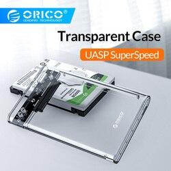 ORICO 2,5 дюймов прозрачный USB3.0 для Sata 3,0 HDD корпус инструмент бесплатно 5 Гбит/с Поддержка 2 ТБ UASP протокол жесткий диск корпус