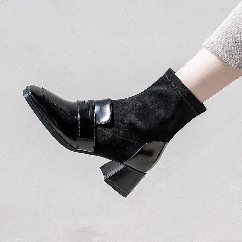 Vache Enmayer Causal Taille silver 39 Talons Daim Bottines Chaussures Cr1671 Courtes Mince Bout Hiver Femme Hauts Métal En Pointu Black Noir 34 qqWgrv6P