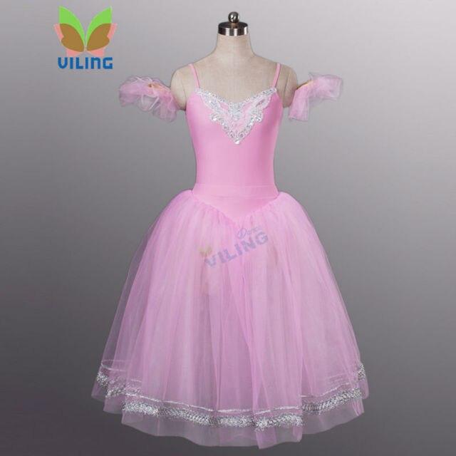 ccd96424e3d women pink giselle romantic tutus dress Adult nutcracker professional classical  ballet tuu long skirt swan lake ballet costumes