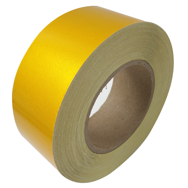 5CM*45M Reflective Tape Safety Warning Sign Body Stickers Gold PET Materials Strips Adhesive Wear-resistant Waterproof