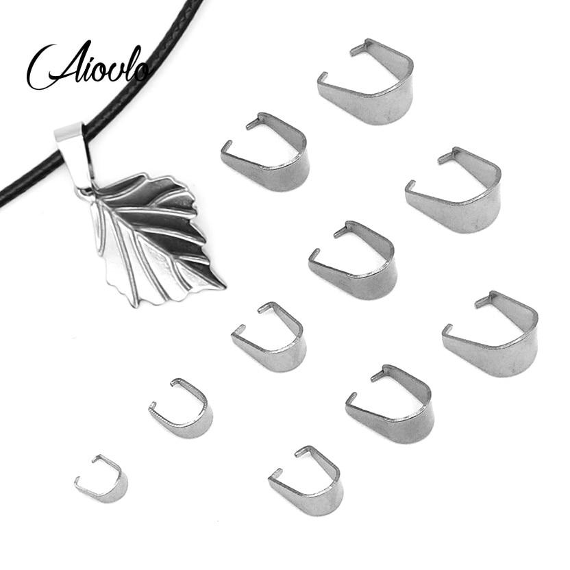 200pcs/lot Stainless Steel Clasps Pinch Bails Charm Melon Seeds Buckle Pendant DIY Necklace Bracelet Connectors Jewelry Findings