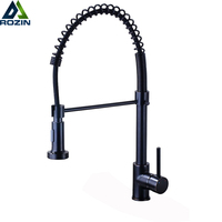 Bronze Black Kitchen Faucet Deck Mounted Mixer Tap 360 Degree Rotation Stream Sprayer Nozzle Kitchen Sink Hot Cold Taps