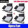 4 stks/partij LED 200 w Zacht Licht 432x0.5 w Fotografische Licht DMX512 Fill-In-Licht Film /DJ/Bar/Party/Tonen/Stage Licht