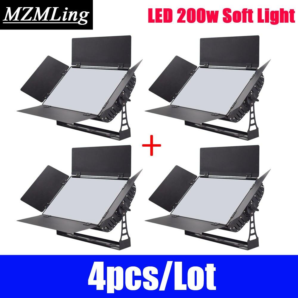 4pcs Lot LED 200w Soft Light 432x0 5w Photographic Light DMX512 Fill In Light Film DJ