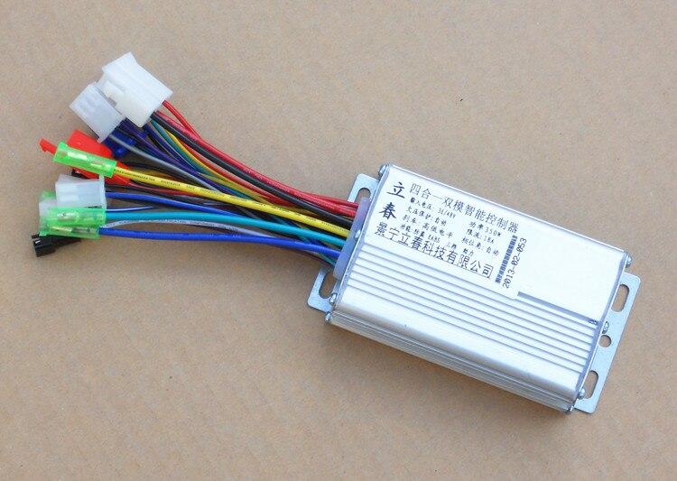 56c203d436b2d 350 W 36 V/48 V DC 6 MOFSET bezszczotkowy kontroler, sterownik silnika  BLDC/e-bike/e-skuter/rower elektryczny regulator prędkości