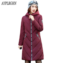 Casual Warm Long Sleeve Ladies Basic Coat jaqueta 2017 New Arrival feminina jacket women parkas cotton Women Winter Jacket 6L40