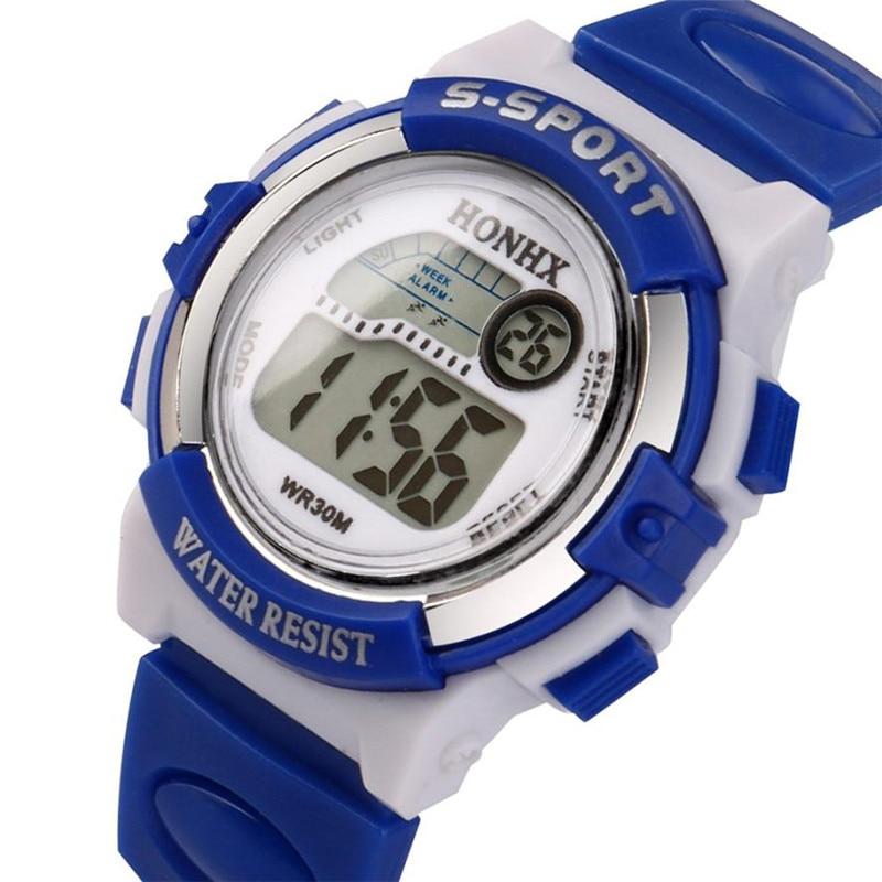 Children Watch Outdoor Sports Kids Boy Girls LED Digital Stopwatch Waterproof Wristwatch Children's Watches montre enfant #C