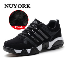 NUYORK Winter plus cashmere warm man cotton shoes casual sneaker men's shoes fashion middle school students male boot 2018 new