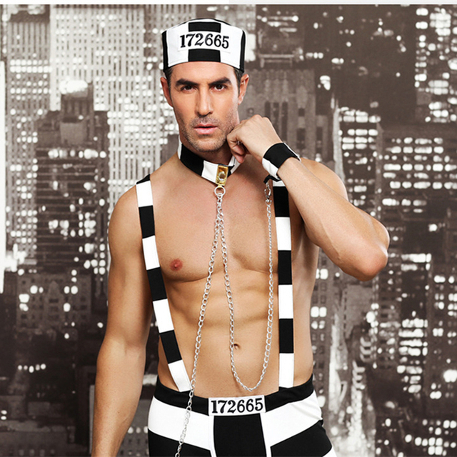 Men's Hot Prisoner Role Play Uniform