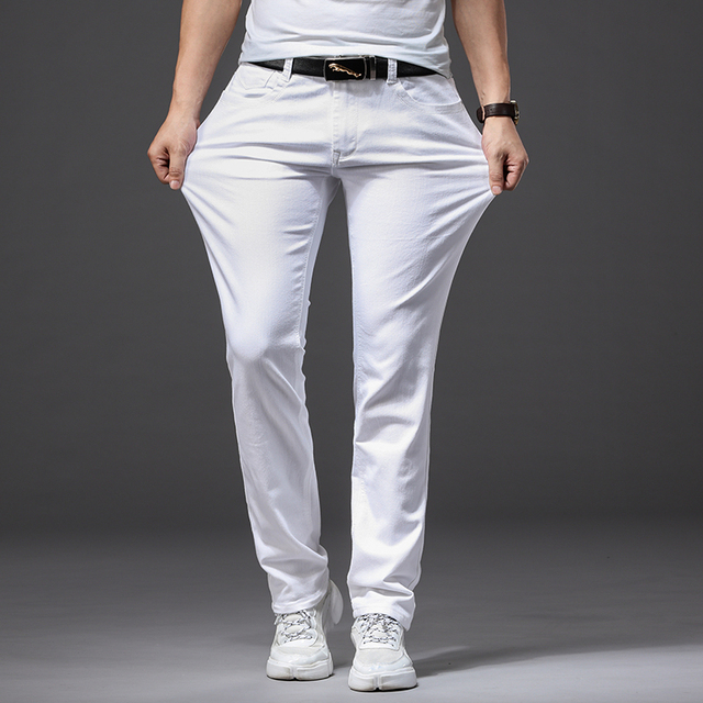 White Fashion Stretch Jeans 6