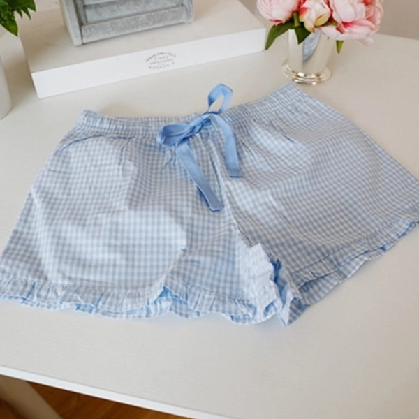 Pantalones de pijama de verano para las mujeres pijama pijama mujer femme pantalon pantalones cortos ropa para dormir en casa de las mujeres pantalón S147