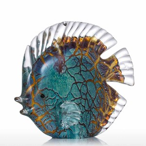 Image 2 - Tooarts Colorful Spotted Tropical Fish Glass Sculpture Fish Sculpture Modern Art Favor Gift Artwork Home Decoration