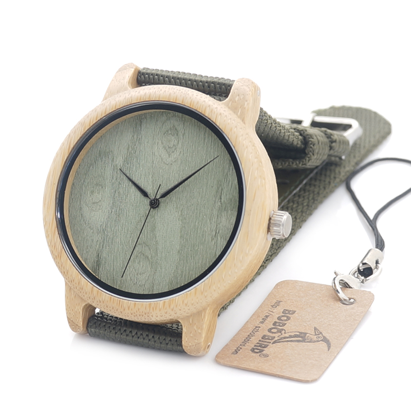 BOBO BIRD Mens Watch New Designer Wood Watch Luxury with Fabric Strap Wristwatches Japan Movement 2035