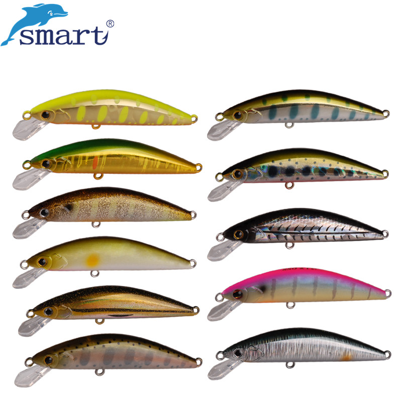 цены Smart Hard Lure 65mm 5g Fishing Lures China Minnow Bait VMC Hook Iscas Artificiais Para Pesca Fishing Tackle Wobbler Luis Vuiton