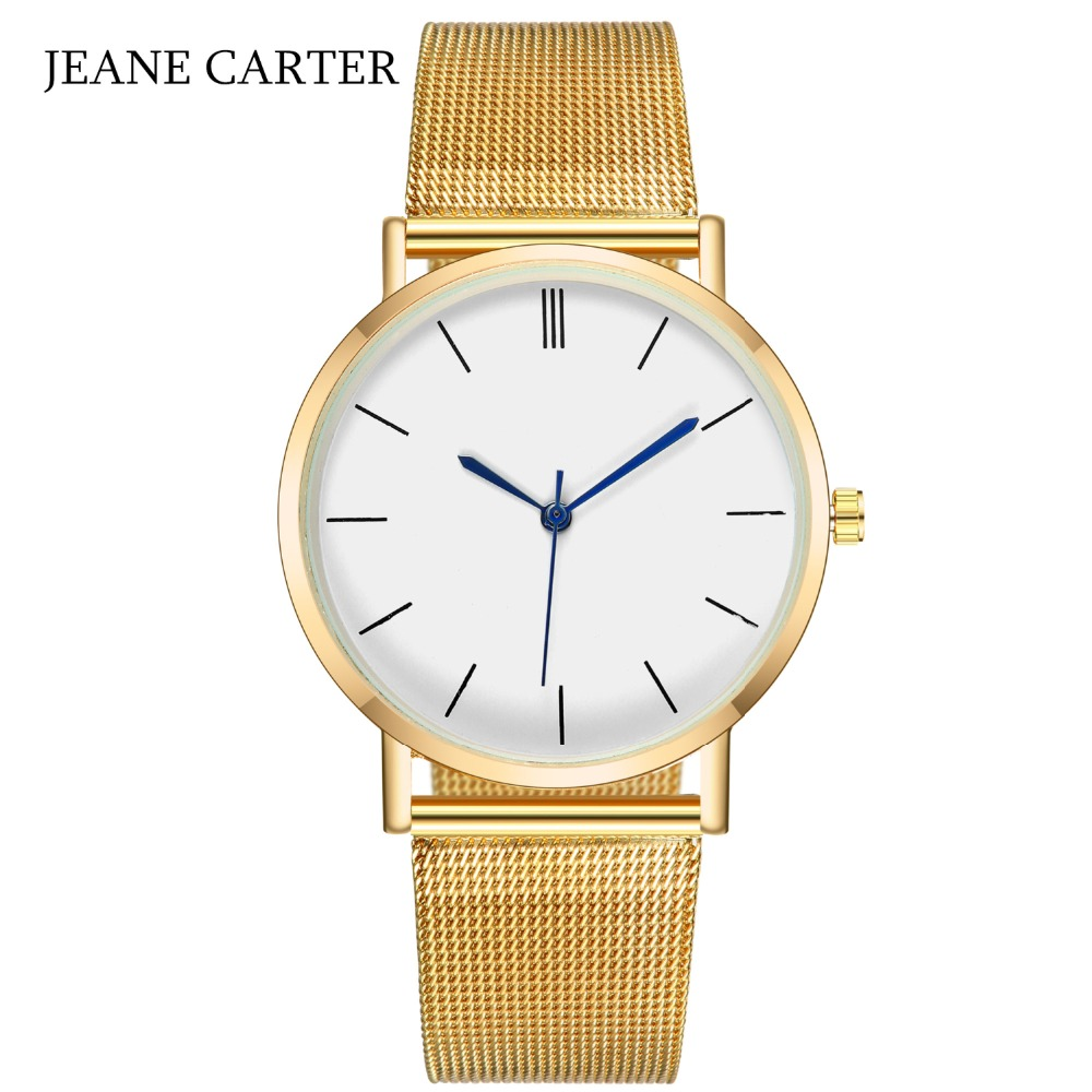 Drop Shipping 2019 Top Selling Women Watch Brand Luxury Gold Silver Quartz Watch Men Mesh Steel Watches Relogio Feminino Clock