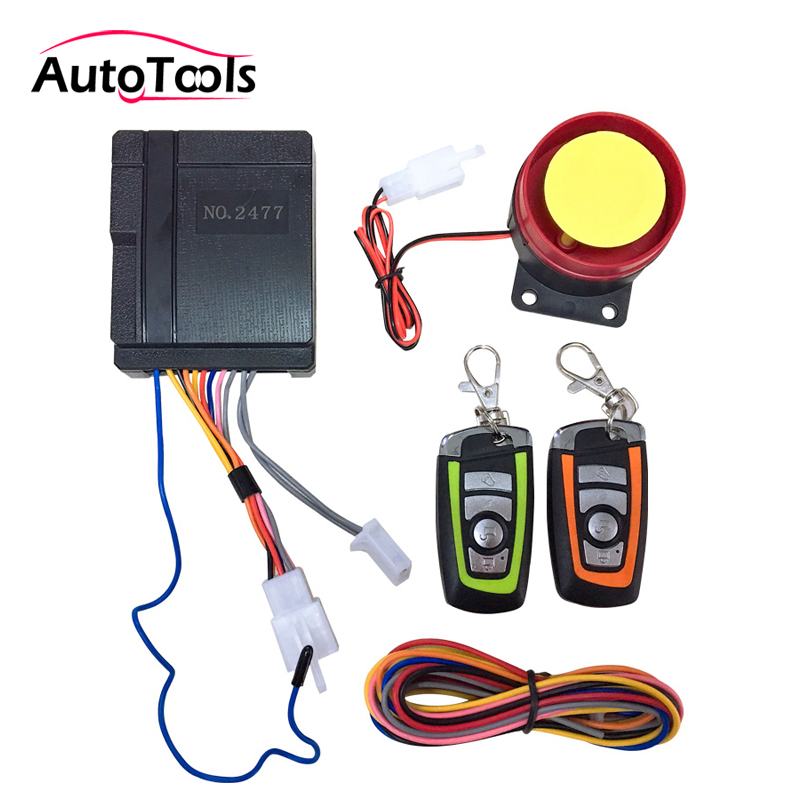 Anti-theft Security Motorcycle Alarm System Remote Control Engine Start 12V Motorbike Scooter alarm kit