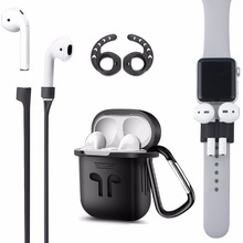 Duszake TA8 Ear Hook For Airpods Accessories Silicone Cover Air Pods Case
