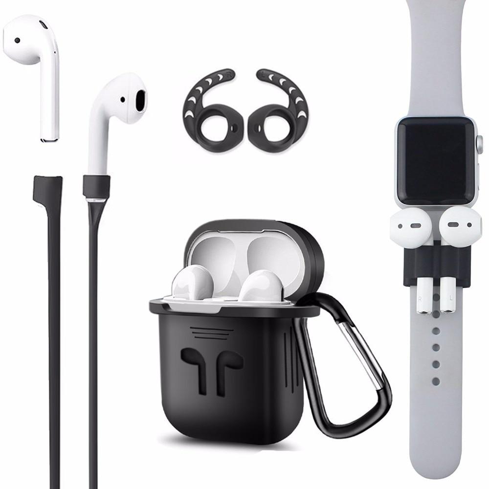 Duszake TA8 gancho para Airpods accesorios cubierta del oído del silicón para las vainas del aire Earpods para Airpods accesorios para aire vainas