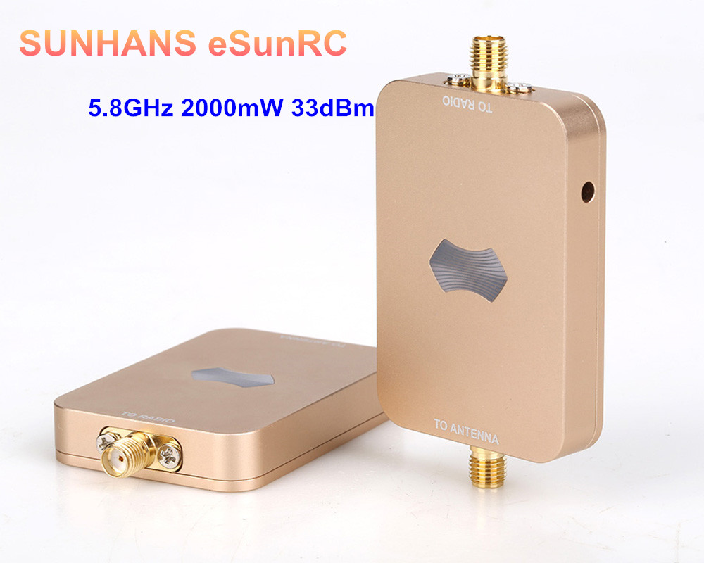 5 Pieces Genuine SUNHANS ESunRC SH-RC58G2W 2000mW 33dBm 5.8Ghz WiFi Signal Booster Wireless Signal Amplifier For UAV, IP Camera