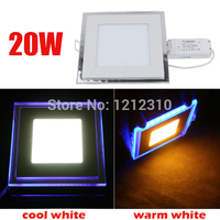 20W Square Acrylic Led Ceiling Panel Light Lamp Bulb Downlight Warm Cold White Blue For Home