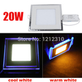 20W Square Acrylic Led Ceiling Panel Light Lamp Bulb Downlight Warm Cold White Blue For Home Living Room Indoor Lighting